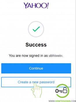 verification yahoo success