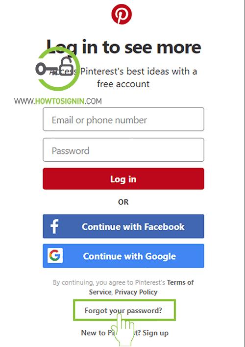 pinterest password reset not working