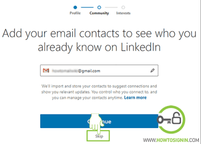 import contacts from email linkedin
