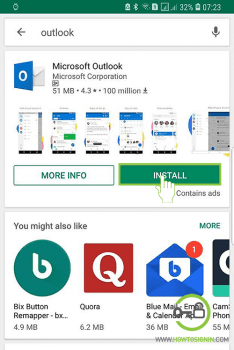 install hotmail mobile app on android