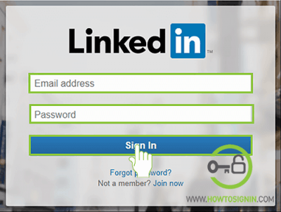 Linkedin login from web