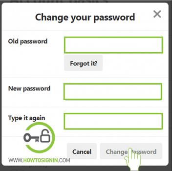 pinterest new password