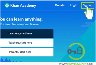 khanacademy sign up