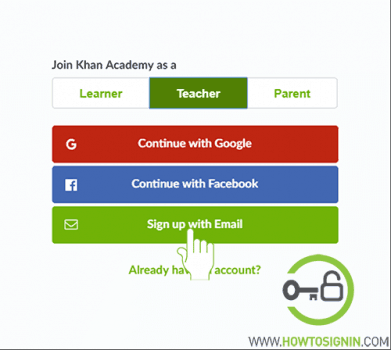 khanacademy signup for teachers