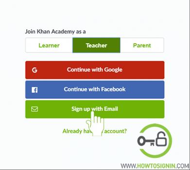 khanacademy signup for teachers