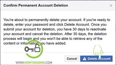 facebook account deletion final warning