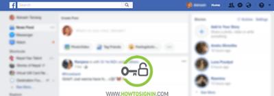 Facebook homepage after login