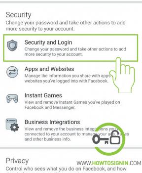 Facebook mobile security