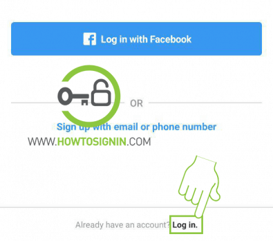 Instagram account login page