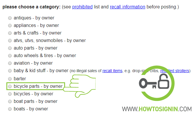 type of posting example on craiglist