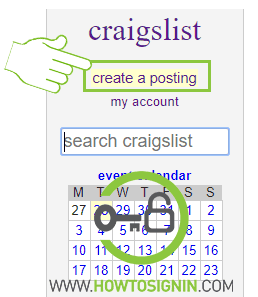 Craiglist create a posting of product