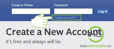 facebook forget password