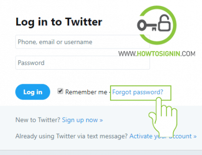 twitter forgot password to recover account