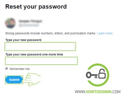 twitter password reset