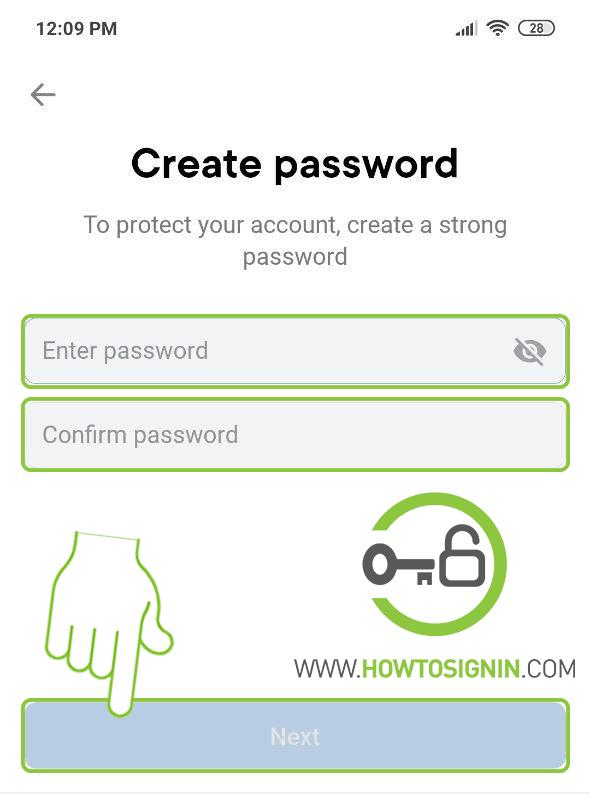 VK password creation