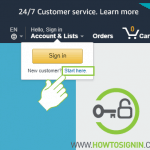 Amazon Sign up home page