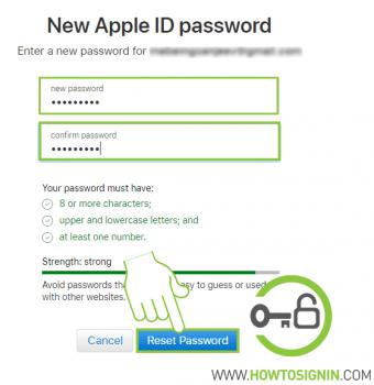 Apple ID password reset