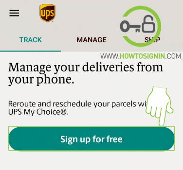 UPS mobile signup for free