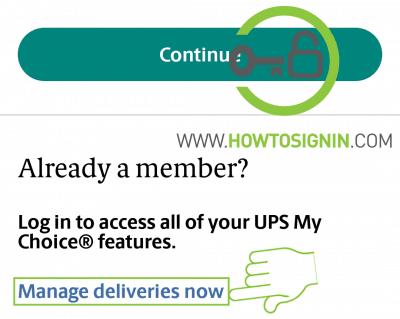 UPS mobile manage deliveries