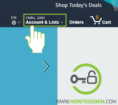 Amazon Account & List option