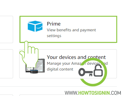 Amazon prime membership option