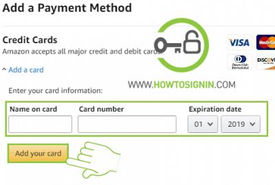 Amazon prime card information