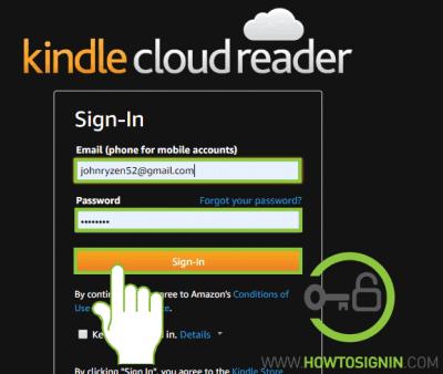 Kindle login with amazon account