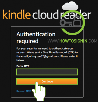 Kindle password reset opt