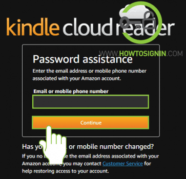 Kindle password reset email for otp