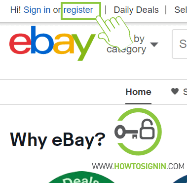 ebay new account registration